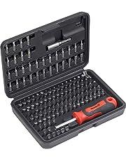 Meister Bitset 130-delig - chroom-vanadium-staal - standaard & veiligheidsbits - in praktische kunststof doos / bitset voor zichtbare werkzaamheden / bit-assortiment / schroevendraaierbits / 3385430