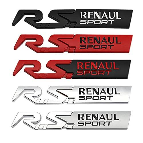 Auto Aufkleber Emblem Aufkleber Kompatibel mit Renault RS Sport Clio Szenische Laguna Logan Megane Koleos Sandero Safrane Vel Satsame Arkana Talisman Auto-Emblem-Logo ( Color Name : Matte Red RS )
