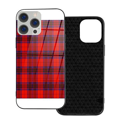 Leslie - Funda protectora para teléfono móvil, parte trasera de cristal templado y parachoques de TPU suave, compatible con iPhone 12/iPhone 12 Pro