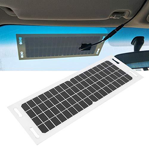 Solar Car Charger Flexible, Car Solar Charger Flexible Monokristallijn silicium met 3 meter oplaadkabel 18V 5W voor auto, camper, boot, mobiele telefoon en meer