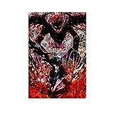 EWYU Black Clover - Poster artistico su tela, motivo: asta di Black Clover (50 x 75 cm)