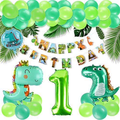 KATELUO Decoracion Cumpleaños Dinosaurios,Selva Fiesta de Cumpleaños Decoracion, Selva Fiesta de cumpleaños decoracion Niño,Decoración de globos de cumpleaños para niños. (1)