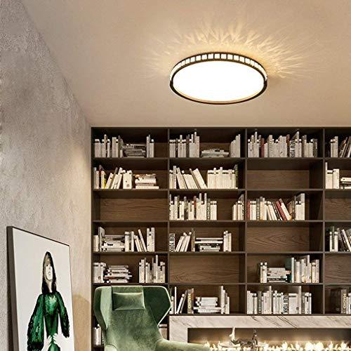 XXYHYQHJD LED 24W luz de Techo contemporánea Minimalismo Estudio Dormitorio iluminación de Techo de la lámpara de Techo Redondo Decorativo Colgante de luz