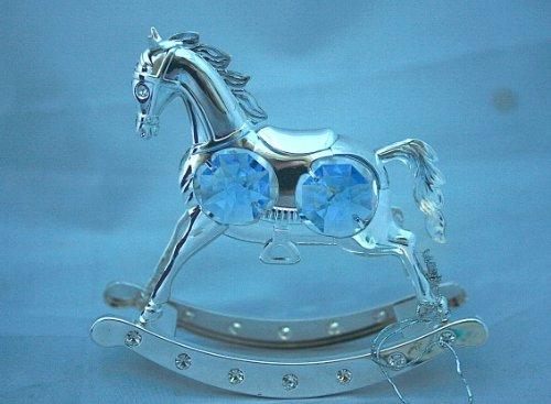 Crystal Temptations Schaukelpferd mit Swarovski Elementen - blau