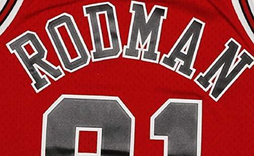 Mitchell & Ness Dennis Rodman 91 Replica Swingman Chicago Bulls NBA Jersey Red HWC Basketball Trikot