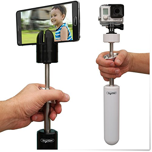 StayblCam Smartphone Gimbal and Video Stabilizer - Compatible with All iPhone, Galaxy, Foldables, and GoPro. Only Smartphone Gimbal That Also Works with 360 and VR Cameras