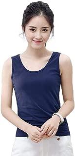 Mogogo Womens Sleeveless Cotton Solid Jersey Base Plus-Size Tank Top