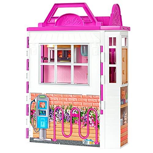 Barbie Restaurante Muñeca rubia con con cocina de juguete y accesorios, regalo para niñas y niños +3 años (Mattel GXY72)