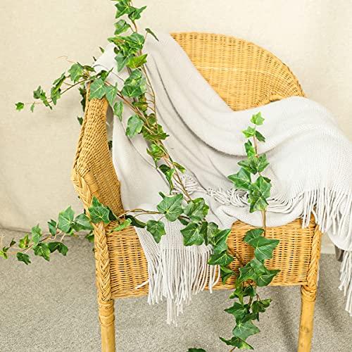 Floweroyal Hiedra Artificial Guirnalda Colgante Falsa de 6.6 pies con Hojas de verdor de Seda Natural para la decoración de la Mesa del Partido. (1 Paquete)