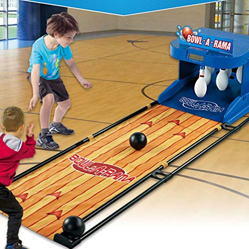 Cakunmik Elektrische Bowlingkugel-LED-Bildschirm elektronische Innen-Sport-Ball-Spiel Eltern-Kind-interaktive Spielautomaten Kinderspielzeug