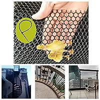 安全ネット 多目的な用途のネット 階段ネット 防護ネット 子供 転落防止網 ネッティングバルコニー、階段ブラックセーフティネット、ベビー幼児キッズペットバニスター階段ネットプロテクターキッズ/ペット/おもちゃの安全性を繁殖プラスチックフェンシング 怪我防止 危険防止 簡単設置 丈夫 取り付けバンド付属 (Color : Black, Size : 1.2x4m)