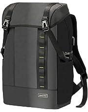 [Morpilot]リュックメンズ 多機能リュックサック USBボード/RFID機能付き 黒