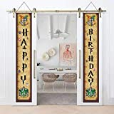 Magical Harry Birthday Banner - Happy Birthday Outdoor Hanging Porch Signs Decor - Potter Themed...