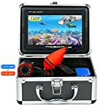 Ovetour Portable Underwater Fishing Camera, Fish Finder with 7'' 1280 X 720P AHD IPS Screen, 24...