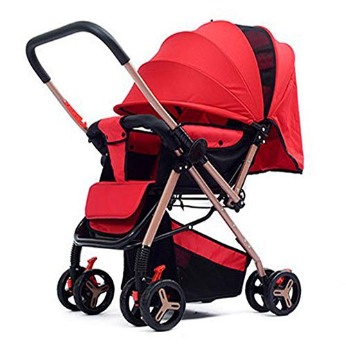CYCPACK Red Folding Portable Shockproof Buggy - All Terrain Baby Stroller Trolley, Prams And...
