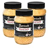 Botticelli Fresh Minced Garlic In Jar with Extra Virgin Olive Oil - Ready-to-Use Bottled Garlic in Olive Oil for Sauces, Dressing, Gravy or Any Recipe - Jarred Minced Garlic in EVOO - 16.9oz (3-Pack)
