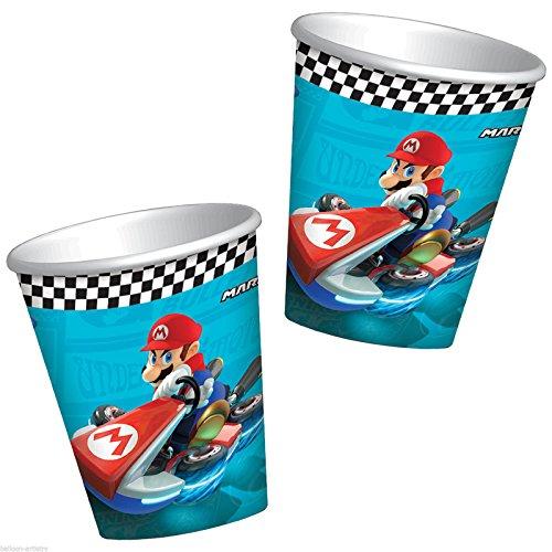 8 Gobelets carton Super Mario 26 cl