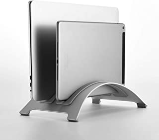 Vertical Laptop Stand Holder,Portable Laptop Stand for Travel Outdoor School Hotel Coffee Shop Silver