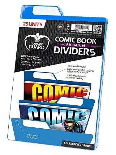 Ultimate Guard Premium Comic Book Intercalaires (Lot de 25, Bleu)