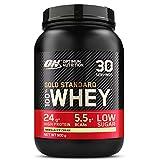 Optimum Nutrition Gold Standard 100% Whey Protéine en Poudre avec Whey Isolate, Proteines Musculation Prise de Masse, Vanille Crème Glacée, 30 Portions, 0.9kg, l'Emballage Peut Varier