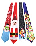 JEMYGINS Original 4PCS Santa Claus Snowman Christmas Tie Mens and boys Necktie for Festival (6)