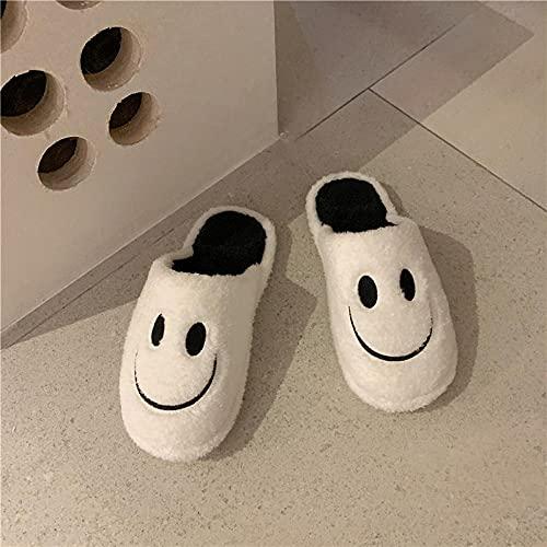 Zapatillas De Casa Hombre Invierno,Zapatillas De AlgodóN Casero De Dibujos Animados De Invierno, Moda Femenina Estudiante CáLido Interior Amoroso Amor Medio Bolsa Y Zapatos De AlgodóN-40-41_a