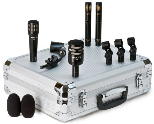Audix DP-QUAD - Professional 4-piece Drum and Percussion Microphone Package with Mounting Accessories
