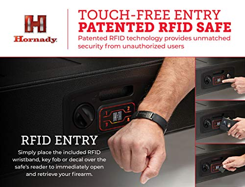 Hornady Rapid Gun Safe with RFID Touch Free Entry - Heavy Duty Rifle Gun Safe for Home and Vehicle