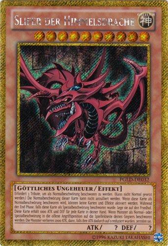 Yu-Gi-Oh Holo Slifer der Himmelsdrache PGLD-DE032 gold secret rare
