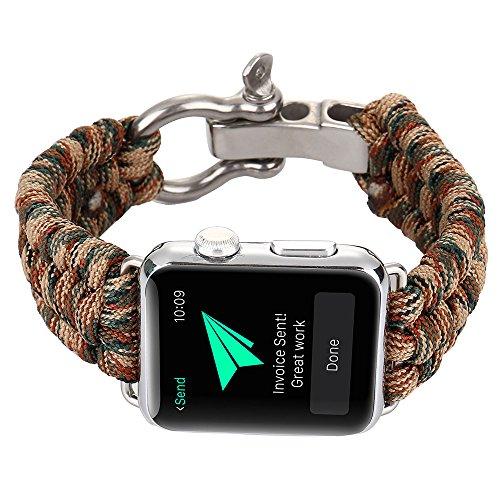 XIHAMA Armband kompatibel für Apple Watch Serie 5 4 3 2 1, 38mm/40mm/42mm/44mm Nylon Ersatzarmband mit Edelstahl-Verschluss für iWatch 38mm/40mm/42mm/44mm