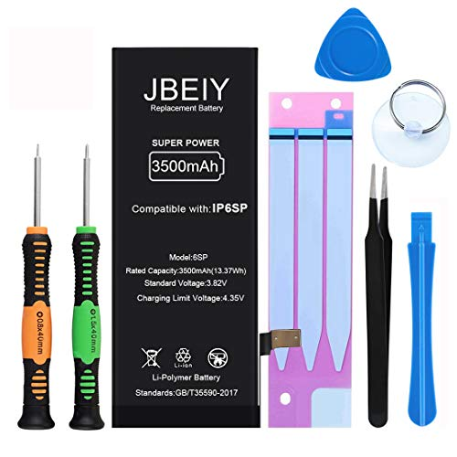JBEIY Battery for iPhone 6S Plus, 3500mAh Super High Capacity Battery Replacement kit New 0 Cycle,...