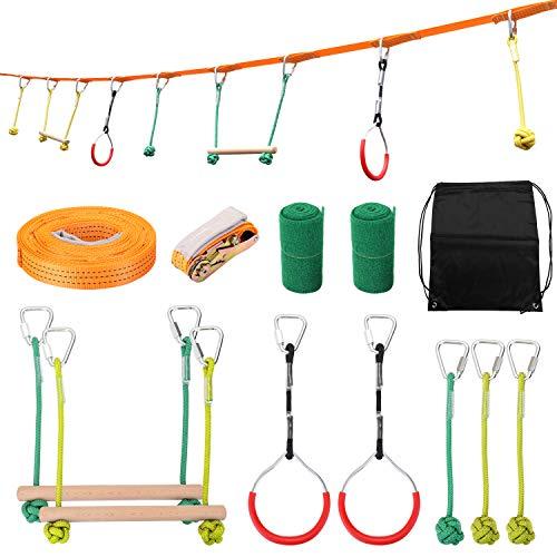 Benkeg Ninja-Seil - Kinder Klettern Ninja Seil Ninja Line Hindernis Trainingsgeräte Kinder Spaß Slack Line Outdoor Kinder Sportgeräte