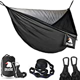 Covacure Camping Hammock - Lightweight Double Hammock, Hold Up to 772lbs, Portable Hammocks for Indoor, Outdoor, Hiking, Camping, Backpacking, Travel, Backyard, Beach