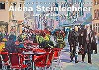 Alena Steinlechner, Acryl auf Leinwand (Tischkalender 2022 DIN A5 quer): Figurativ gegenstaendliche Werke von Alena Steinlechner. In kraeftigen Acrylfarben treten Gruppen von Menschen in einen Dialog. (Monatskalender, 14 Seiten )