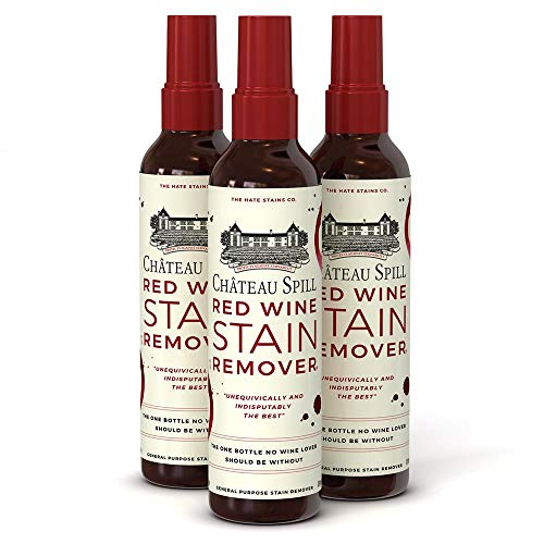 Chateau Spill Red Wine Stain Remover Spray Carpet Cleaner Spray Sofa Cleaner - 4 oz/120 ml Spray Bottle- 3 Pack