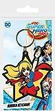 dc comics DC Super Hero Girls-Supergirl Porte-clés en caoutchouc Multicolore 4,5 x 6 cm