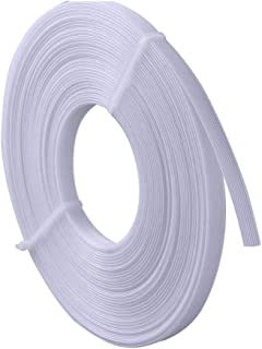 Polyester Boning for Sewing, 1/2 Inch x 10 Yard Sew Through MaxPro Boning for Corsets, Nursing Caps, Bridal Gowns, Evening Gowns, Lingerie, Swimwear, Hats, Handbags, Plush Toys and More-White