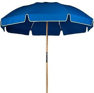 7.5 ft. Fiberglass Commercial Grade Beach Umbrella with Ashwood Pole/Olefin Fabric/Carry Bag