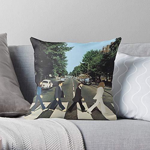 Abbey Music Cover Album Road Beatles - Throw Pillow Cases for Living Room Couch Car Indoor Outdoor Christmas Home Decor