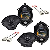 Compatible with Ford F-150 Heritage 2004-2004 OEM Speaker Upgrade Harmony (2) R68 Package New
