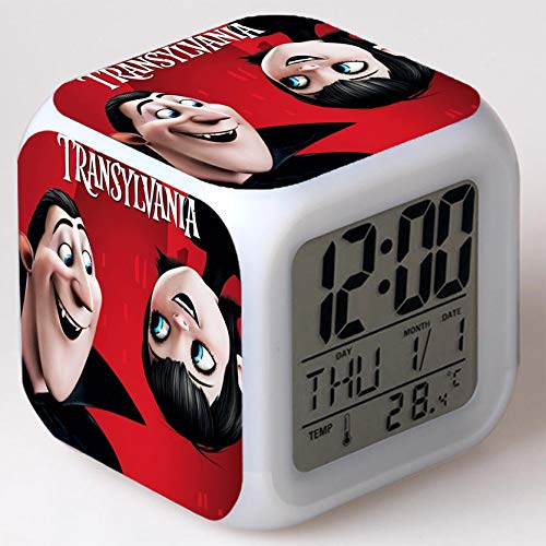 Kids Wizard Hostel Alarm Clocks Kids LED Clock Cartoon Night Light Flash 7 Color Changing Digital Clock Electronic Desk Clock a25