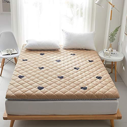 OLLOLCCY Tatami Futón Colchón,Japonés Tatami Dormir Colchón De Futón,Algodón Grueso Acolchar Plegable Esteras para Dormitorio Estudiantil Colchones-Ⅴ 150x200cm