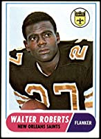1968 Topps # 56 Walter Roberts New Orleans Saints (Football Card) VG/EX Saints Pacific