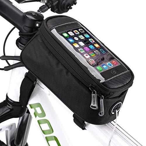 Bolso de la Bicicleta, Creativo Práctica Deportes de Ciclo de mercancías Frente de la Bicicleta del Montar a Caballo de la viga de la Pantalla táctil móvil Paquete de teléfono de 4,8 Pulgadas