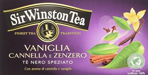 Sir Winston Tea Tè Nero Vaniglia Cannella e Zenzero - 20 filtri - [confezione da 3]