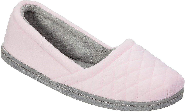 Dearfoams Womens Memory Foam Espadrille Slippers