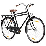 Autoshoppingcenter Bici Citybike Retro Bicicletta Olandese 28 Pollici da Uomo/Donna Adulto Bici da Citt/àTrekking/Mountain/Passeggio, Nero Opaco [EU Stock]