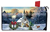 Briarwood Lane Come All Ye Faithful Winter Magnetic Mailbox Cover Church Cardinal Standard