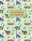 CUADERNO DE DIBUJO: BLOCK DE 100 PAGINAS EN BLANCO. LIBRETA ESPECIAL DIBUJO. FANT�STICO REGALO, CREATIVO Y ORIGINAL PARA NIÑOS Y JÓVENES. DISEÑO DE ... DINOSAURIOS, DIPLODOCUS, ANKYLOSAURUS.