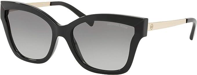 Michael Kors MK2072 333211 Black Barbados Square Sunglasses Lens Category 2 Siz, Black Injected, 56/17/140, 56mm